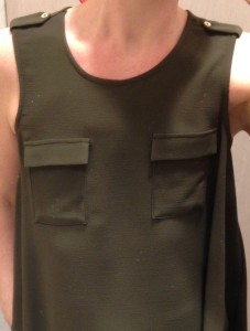 Breast pockets add depth